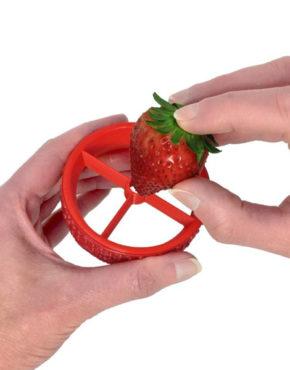 Équeuteuse-trancheuse de fraises
