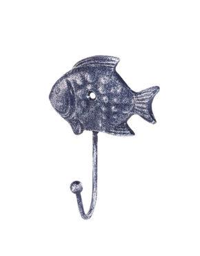Petit poisson bleu crochet en fonte