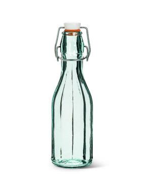 Bouteille en verre recyclé la mini