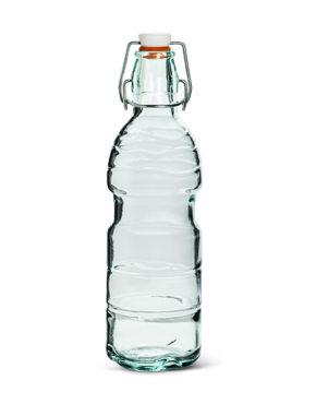 Bouteille en verre recyclé classique