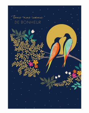 Carte Sarah Miller voeux de bonheur