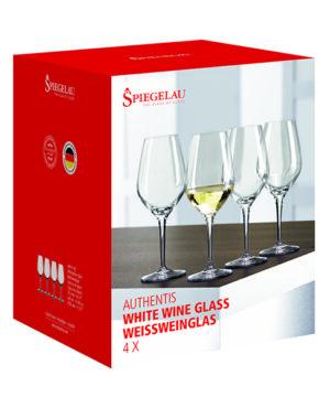 Verres à vin blanc boite de 4 de la collection Authentis