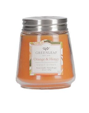Orange et Miel petite bougie Greenleaf