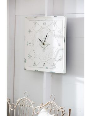 Horloge antique blanche