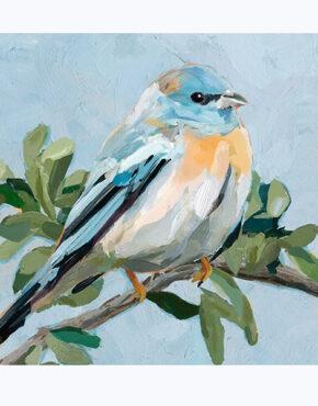 Toile l'oiseau bleu