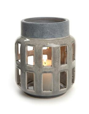 Lanterne en céramique grise