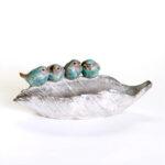 Vase en bain d'oiseaux