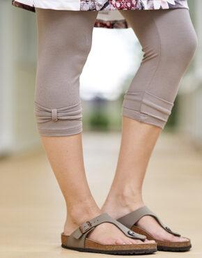 Legging lotus taupe avec boucles aux mollets