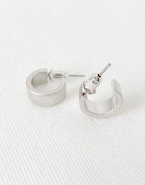 Minis anneaux 2319 argent mat