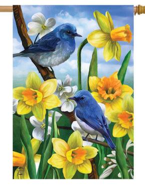Drapeau Les oiseaux bleus