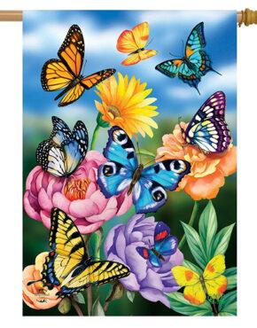 Drapeau les papillons