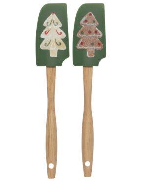 Spatules vertes biscuit de Noël