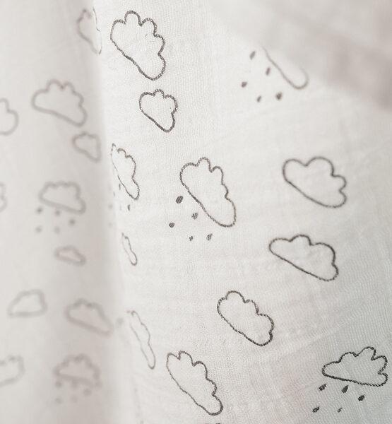 Couverture bébé mousseline nuages blanc